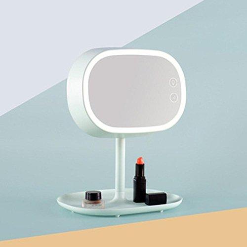 Lampes de bureau Lampe de Table Création maquillage miroir Table lampe LED lampe de chevet chambre stockage verre multifonctions veilleuses , white
