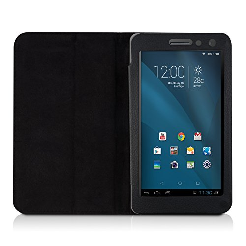 kwmobile Huawei MediaPad T1 7.0 Hülle - Tablet Cover Case Schutzhülle für Huawei MediaPad T1 7.0 - Schwarz mit Ständer - 4