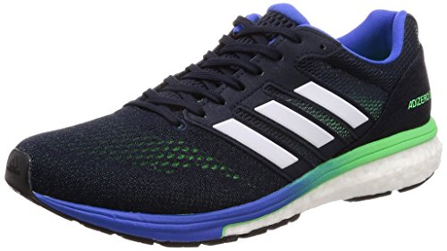 adidas Adizero Boston 7 m, Zapatillas de Running Hombre, Azul (Legend Ink F17/Shock Lime F18/Hi-Res Blue S18), 42 EU