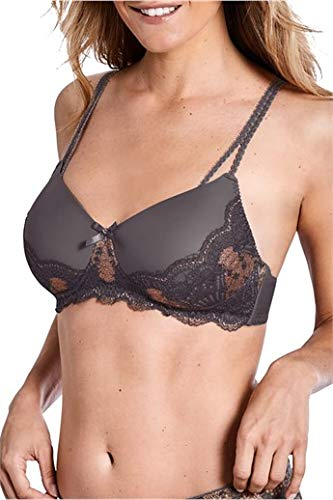 Amoena Florence Padded Wire Free Bra - Grey/Copper - 40AA