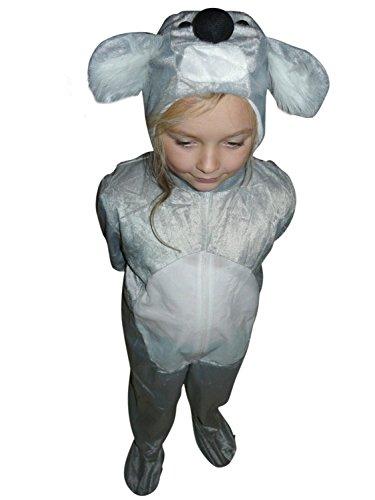 Koala-Bär Kostüm, J42, Gr. 104-110, für Kinder, Koala-Kostüme Koala-Bären für Fasching Karneval, Klein-Kinder Karnevalskostüme, Kinder-Faschingskostüme, Geburtstags-Geschenk Weihnachts-Geschenk