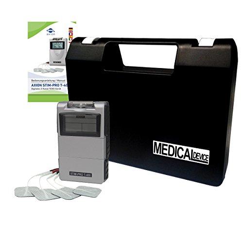 Electroestimulador TENS STIM-PRO T-400 - Aparato de corriente de estimulación de fácil uso - axion