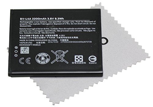 Batería para Original Nokia BV-L4A para Nokia Lumia 830 - 2220 mAh Li-Ion con mungoo pantalla paño de limpieza