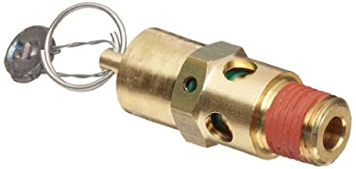 """Control Devices SA Series Brass ASME Safety Valve, 125 psi Set Pressure, 1/4"""" Male NPT from Control Devices"""