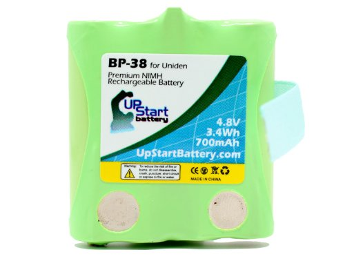 BP-38 Battery for Uniden BP-40, GMRS/FRS Two-Way Radios (700mAh, 4.8V, NI-MH) - Compatible with GMR1838, GMRS, GMR1038-2, GMR, GMR648-2CK, GMR1048-2CK, GMR1038, GMR3699, GMR3689, GMR2889-2CK, GMR1588-2CK, GMR1558-2CK, GMR1038-2CK, GMR2238, GMR885, GMR855-2CK, GMR638, GMR635, BP-38, BP40, BP38, GMRS680-2