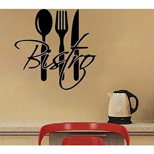 JXLLCD keukengerei eetservies Europees restaurant messen en vork behang sticker 57 * 57cm