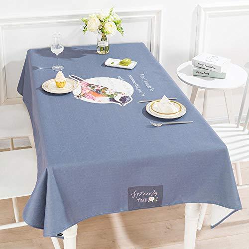 Creek Ywh tafelkleden voor terrasplanken, tafelkleden voor feesten, tafelkleed van stof, landelijke stijl, katoen, linnen, waterdicht, TV-kast, rechthoekig M