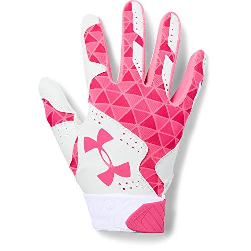 Under Armour Women's Radar Baseball Glove, White (105)/Cerise, M
