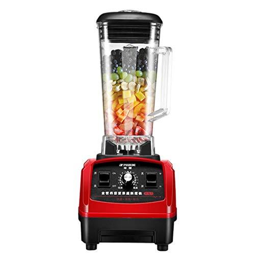Professionele mixer voor shakes en smoothies, pulsmodus, 1200 W multifunctionele smoothie met 15 snelheden, BPA-vrije Tritan-picher, 2 l, rood