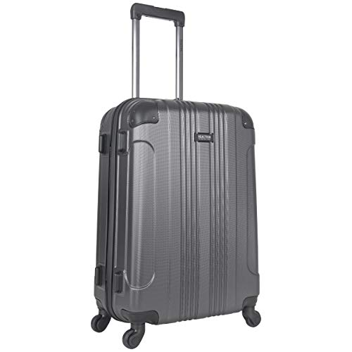Kenneth Cole Reaction Out Of Bounds 24' Hardside 4-Wheel Spinner Lightweight Checked Luggage, Charcoal