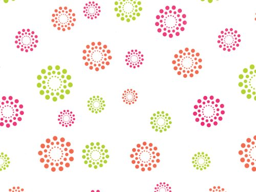 """Pack Of 1, Blooming Hot Dots Cello Roll 1.0 Mil 40"""" X 100' Made In USA For Spring, Easter & Birthday Gift Baskets"""