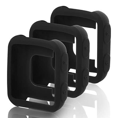 Mwoot 3 Stück Schutzhülle für Garmin Forerunner 35 & Garmin Approach S20, Hülle aus weichem Silikon (Schwarz)