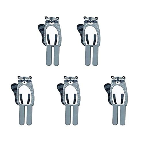 STROG 5 ganchos adhesivos para pared de plástico fuerte, sin clavos, ganchos extraíbles para dormitorio, baño, impermeable, para cocina, baño, oficina, armario y dormitorio (Style8, gris)