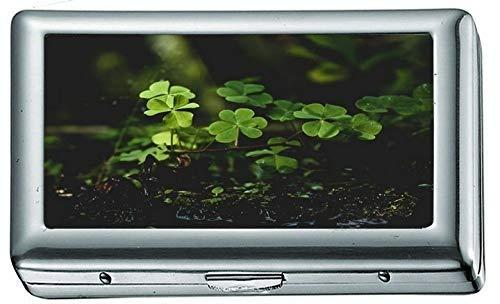 Plantas Verdes en Suelo Negro 144146 Estuche/Caja de Cigarrillos Portatarjetas de Visita...