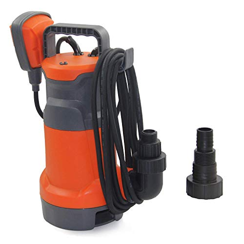 FLUENTPOWER Submersible Pump 3/4HP 3300GPH, Oil Chamber Seal Structure, Drain Clean/Dirty Water from Garden,Pond,Pool,Hot Tub,Flooded Cellar, with Float Switch and Hose Connector