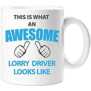 This Is What An Awesome Lorry Driver Looks Like Mug Present Gift Cup Birthday Christmas:Maskedking