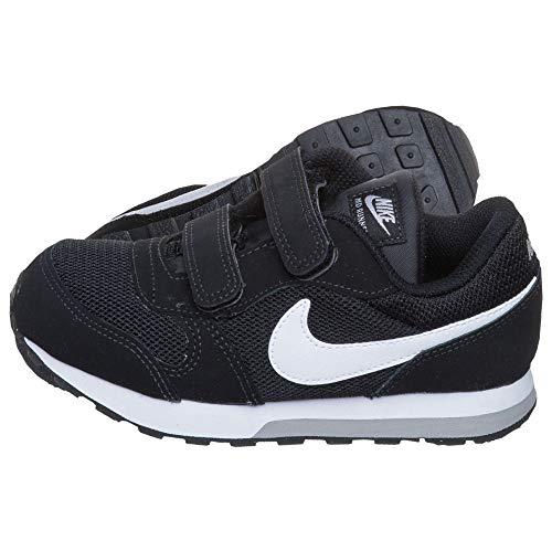 Nike Md Runner 2, Herren Gymnastikschuhe, Schwarz (Black/White-Wolf Grey), 22