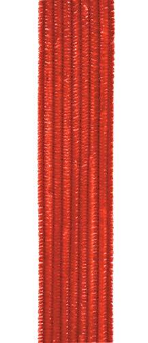 Vaessen Creative Darice Chenille Stems: Red, 6mm x 12 Inches, 25 Pieces 10423-30 Pfeifenreiniger zum Basteln und Dekorieren, Cheniulle, Rot, 30 x 0.6 x 0.5 cm, Einheiten