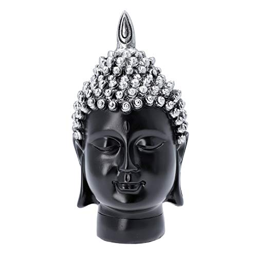 Shop LC Delivering Joy Christmas Home Decor Gifts Decorations Silver Buddha Head Statue Lord Buddha Statue Living Room Religious Idol Showpiece Figurine Table Spiritual Decor Gifts