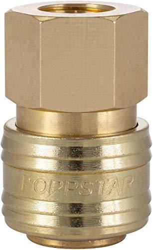 Poppstar Schnellkupplung Druckluft NW 7,2 mit 1/4 Zoll Innengewinde für Druckluft-Anschluss
