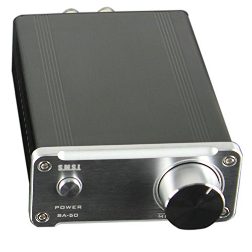 SMSL SA50 50Wx2 TDA7492 Class D Amplifier + Power Adapter (Silver)