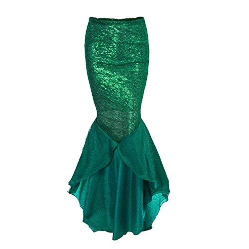 hibote Mujeres A-lìnea Falda Larga, Vintage Gótico Steampunker Disfraz Capas Falda Plisada Mujer Cintura Alta Casual Falda Skirt Clubwear