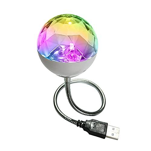 Springlinges Aktiviertes Party-Licht mit Fernbedienung, LED, Mini-Bunt-Projektorlampe, Kugel, drehbare Bühnendekoration