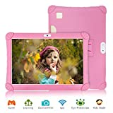 Tablette Tactile 10 Pouces 3Go RAM 32Go/128Go ROM Android 9.0 Pie Certifié par Google GMS Tablette Enfant Batterie 8500mAh 4G Call Quad Core Tablette Dual SIM Caméra Tablet PC Netflix WiFi OTG(Rose)