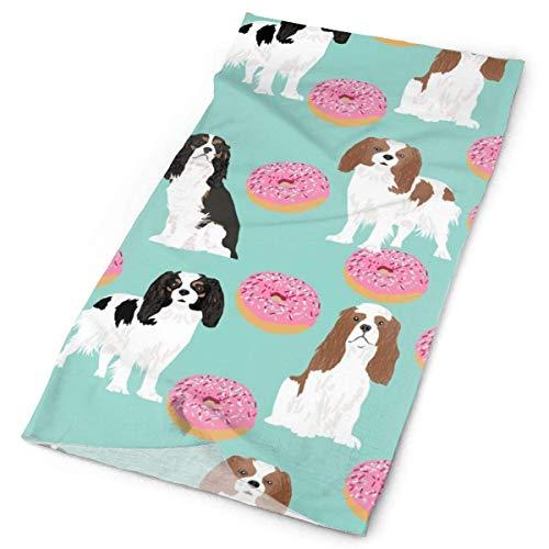 NA Cavalier Koning Karel Spaniel Honden Met Donuts Zoete Huisdier Honden Mint Donuts Voedsel Novelty Hond PrintFacial Hoofdband Make Up Wrap Hoofd Terry Doek Hoofdband Stretch Handdoek make-up Haarband Sport