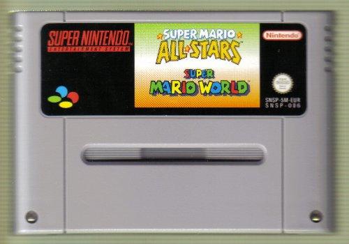 SNES Spiel: Super Mario All Stars + Super Mario World (2 in 1 Game) NUR DAS EINZELNE SPIEL-MODUL (für SNES Super Nintendo, PAL, deutsch)