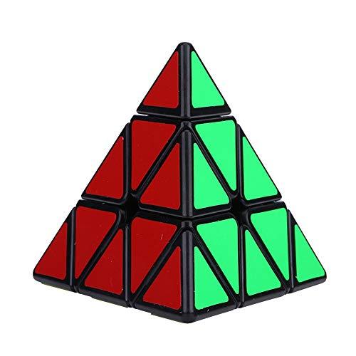 V GEBY Pyramid Cube, Cadeau éducatif pour Enfant Jouet pour Adulte Pyramid Cube Game(Noir)