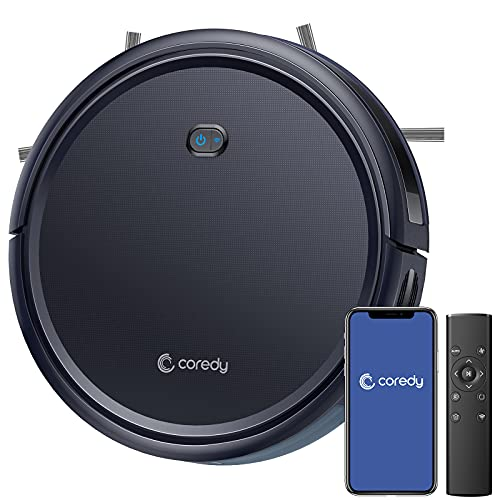 Coredy R400 Robot Vacuum Cleaner, Personalized Customized Robotic Vacuums Skin, 2000Pa Suction, Works with Alexa, Wi-Fi Connected, Auto Boost Intellect, Quiet Self-Charging Vacuum Robot for Pet Hairs