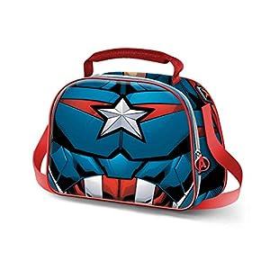 KARACTERMANIA Capitán América Civil War-Bolsa Portameriendas 3D, Negro