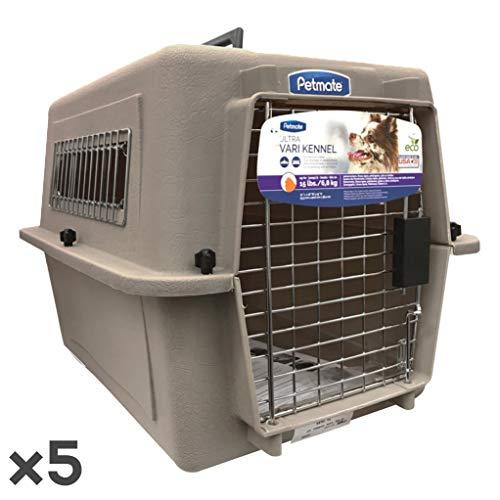 ペットメイト ウルトラ バリケンネル 15lbs (6.8kg) S トープ 犬猫用 ×5入