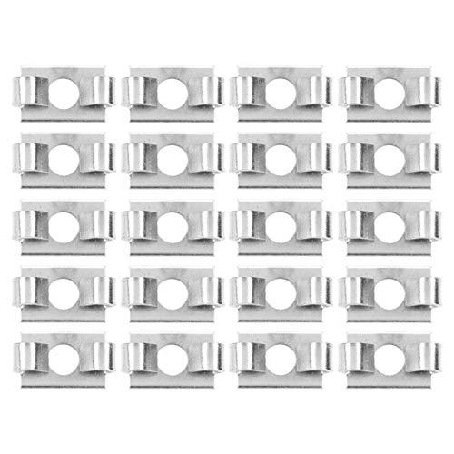 20 piezas de perfil de aluminio conector elástico de resorte de acero serie 30-ranura 8 duradero para perfiles de aluminio de la serie(30 series-slot 8)