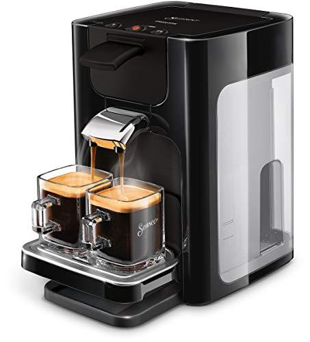 Philips HD7865/60R1 SENSEO® Quadrante Kaffeepadmaschine (SENSEO Kaffee Boost Technologie, Edelstahl), schwarz, (Generalüberholt)