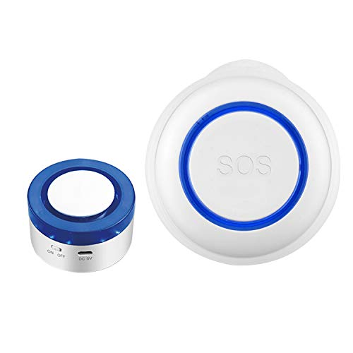 Mifive BotóN de Emergencia WiFi SOS Alarma Inteligente Wifi Sensor de Alarma para el Hogar Adecuado para la Seguridad de los Ancianos y los Ni?Os