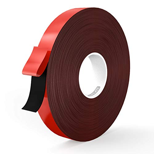 LLPT Double Sided Tape Black Acrylic Strong Mounting Tape 1 Inch x 550 Inch Multiple Sizes Residue Free Waterproof Outdoor Indoor Adhesive (BA150)