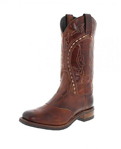 Sendra Boots Stiefel DESNA/Sendra 14339 / Brauner Westernreitstiefel mit Thinsulate Isolierung/Herrenstiefel