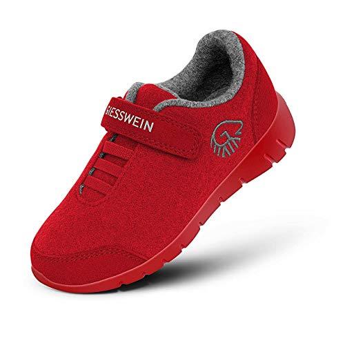 GIESSWEIN Merino Runners Kids - Atmungsaktive Schuhe für Jungen & Mädchen aus 100% Merino Wolle, Sportliche Schuhe für Jungs & Mädls, Halbschuh, Kinderschuhe