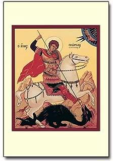 Saint George with Dragon Holy Prayer Card 3 1/8