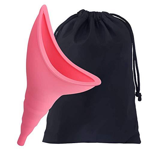 SOULBEST Dispositivo Urinario Portátil Feminino - para Orinar de Pie Equipo de Urinación Orinal Portátil para Mujer Acampa Viaje Camping Senderismo Servicios Baños Sanitarios Públicos (Rosa)