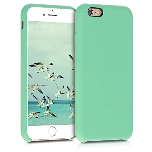 kwmobile TPU Silicone Case Compatible with Apple iPhone 6 / 6S - Case Slim Protective Phone Cover with Soft Finish - Peppermint Green