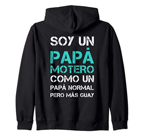 Sudaderas Hombre Con Cremallera Y Capucha Regalo Papa Motero Sudadera con Capucha