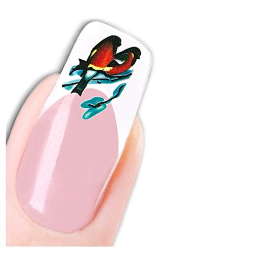 Just Fox – Stickers Nail Art pour ongles oiseaux Bird Free To Fly ongles Pied Stickers water decal