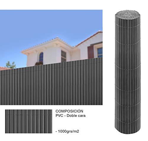 Comercial Candela Cañizo PVC Doble Cara Gris Antracita 1,5x3 Metros
