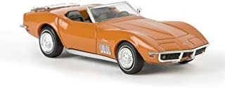 Chevrolet Corvette C3 Convertible, with luggage rack , orange, Model Car, Ready-made, Brekina 1:87