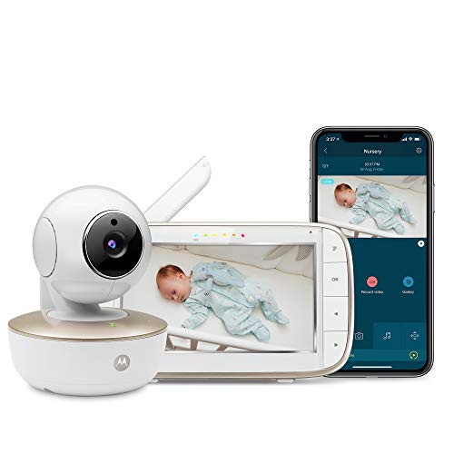 Motorola MBP855SCONNECT Video Baby Monitor with 5' Handheld Parent Unit and Wi-Fi Hubble Connected App for Smartphones &Tablets