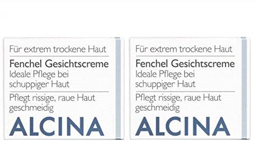2er T Fenchel Gesichtscreme Pflegende Kosmetik Alcina ideale Pflege bei schuppiger Haut je 100 ml = 200 ml