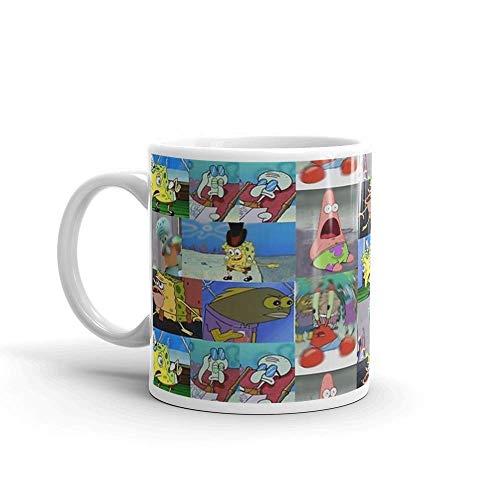 Lsjuee Bob Esponja Meme Collage. Las tazas de 11 onzas son el regalo perfecto para todos. Taza de cerámica fina de 11 oz con acabado impecable